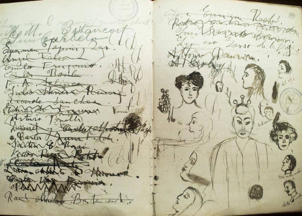 Delmira Agustini (Cuaderno 3. Colección DA. Archivo literario de la Biblioteca Nacional)